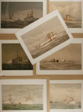 Books:Prints & Leaves, Fred S. Cozzens [Artist]. Group of seven chromolithographic printsfrom Our Navy. Its Growth and Achievements. . H...