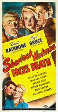 "Movie Posters:Mystery, Sherlock Holmes Faces Death (Universal, 1943). Three Sheet (41"" X 80"").. ..."