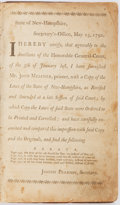 Books:Americana & American History, [New Hampshire]. [The Laws Of The State Of New-Hampshire,Together With The Declaration Of Independence: the Definitive...