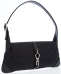 Luxury Accessories:Bags, Gucci Black Classic Monogram Canvas Small Shoulder Bag withGunmetal Hardware. ...