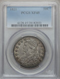 Bust Half Dollars: , 1821 50C XF45 PCGS. PCGS Population (84/388). NGC Census: (63/426).Mintage: 1,305,797. Numismedia Wsl. Price for problem f...