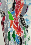 Prints, JOHN CHAMBERLAIN (American, 1927-2011). Pukka Fraise (two works), 1989. Color monotype. 83 x 29-3/8 inches (210.8 x 74.7... (Total: 2 Items)