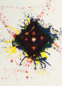 SAM FRANCIS (American, 1923-1994) Untitled (four works), 1992 Lithograph in colors 30 x 22 inches