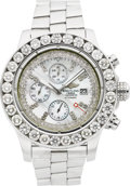 Timepieces:Wristwatch, Breitling Ref. A13370 Steel & Diamond Super Avenger Chronograph. ...
