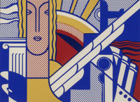 ROY LICHTENSTEIN (American, 1923-1997) Modern Art Poster, 1967 Screenprint in colors 8 x 11 inche
