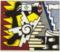 Prints:Contemporary, ROY LICHTENSTEIN (American, 1923-1997). American Indian Theme II, 1980. Woodcut printed in colors. 24 x 28-5/8 inches (6...