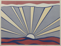 ROY LICHTENSTEIN (American, 1923-1997) Sunrise, 1965 Offset lithograph in colors 17-1/4 x 23-1/8
