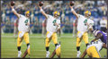 Football Collectibles:Photos, Brett Favre Signed Oversized Photographs Lot of 3. ...