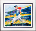 Baseball Collectibles:Others, 1998 Joe DiMaggio & Leroy Neiman Signed Lithograph. ...