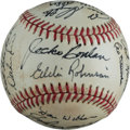 Baseball Collectibles:Balls, Old Timers Multi Signed Baseball (22 Signatures)....