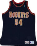 Basketball Collectibles:Uniforms, 1993-94 Rodney Rogers Game Worn Denver Nuggets Jersey....