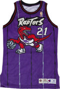 Basketball Collectibles:Uniforms, 1995-96 Marcus Camby Game Worn Toronto Raptors Jersey....