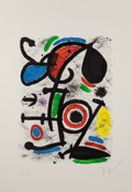Fine Art - Work on Paper:Print, JOAN MIRÓ (Spanish, 1893-1983). Querelle d'amoureux II (fromAllegro Vivace), 1981. Lithograph in colors. 26 x 18-1/2 in...