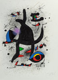 Fine Art - Work on Paper:Print, JOAN MIRÓ (Spanish, 1893-1983). Jongleur de Colombes, 1973.Lithograph in colors. 31-1/2 x 23-1/4 inches (80.0 x 58.9 cm...