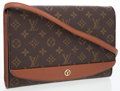Luxury Accessories:Bags, Louis Vuitton Classic Monogram Canvas Oversize Clutch with ShoulderStrap. ...