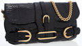 Luxury Accessories:Bags, Jimmy Choo Black Python Tulita Bag with Brushed Gold Hardware. ...