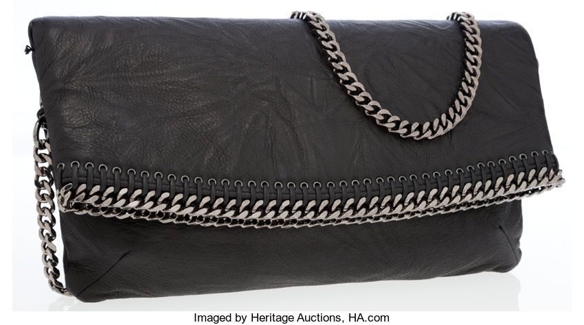 bce3f0d728 Luxury Accessories:Bags, Balmain Black Leather Abroad Shoulder Bag with  Gunmetal Hardware.