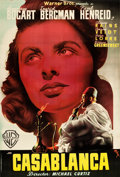 "Movie Posters:Academy Award Winners, Casablanca (Warner Brothers, 1940s). Post-War Spanish One Sheet (26.5"" X 39"").. ..."