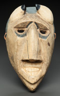 American Indian Art:Wood Sculpture, A CHEROKEE PAINTED WOOD BOOGER MASK. Allen Long. c. 1950...