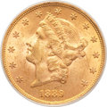 Liberty Double Eagles, 1889 $20 MS62 PCGS. CAC....