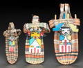 American Indian Art:Baskets, THREE HOPI POLYCHROME TWINED WICKER TOY CRADLES . c. 1940 - 1960...(Total: 3 Items)