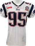 Football Collectibles:Uniforms, 2009 Tully Banta-Cain Game Worn Unwashed New England Patriots Jersey - NFL Auction LOA, Worn At London....