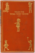 Books:Children's Books, A. A. Milne. When We Were Very Young. Methuen, 1928. Later edition. Custom full polished calf by Riviere with mild r...
