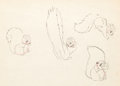 animation art:Model Sheet, Snow White and the Seven Dwarfs Forest Animals Model Sheets(Walt Disney, 1937).... (Total: 7 Illustration Art)