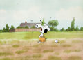 Animation Art:Production Cel, The Charlie Brown and Snoopy Show Snoopy Production CelSet-Up and Production Drawing Animation Art Group (Bill Melend...(Total: 5 Items)