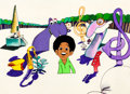 "Animation Art:Production Cel, The Jackson 5ive ""Michael in Wonderland"" Production CelSet-Up (Rankin-Bass, 1972).... (Total: 2 Items)"