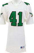 Football Collectibles:Uniforms, Late 1980's Keith Byars Game Worn Philadelphia Eagles Jersey - Covered in Team Repairs!...