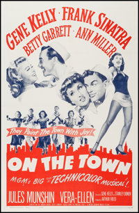 "On the Town (MGM, R-1962). One Sheet (27"" X 41""). Musical"