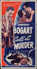 "Movie Posters:Crime, Midnight (Guaranteed Pictures, R-1947). Three Sheet (41"" X 80"").Crime. Re-release Title: Call It Murder.. ..."
