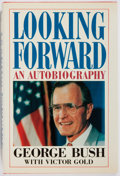 Books:Biography & Memoir, [President] George Bush. INSCRIBED. Looking Forward. Doubleday, 1987. First edition, first printing. Signed and in...