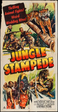 "Movie Posters:Documentary, Jungle Stampede (Republic, 1950). Three Sheet (41"" X 79""). Documentary.. ..."