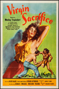 "Movie Posters:Adventure, Virgin Sacrifice (Releasing Corporation of Independent Producers,1959). One Sheet (27"" X 41""), Title Card and Lobby Cards (...(Total: 6 Items)"