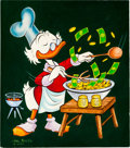 Original Comic Art:Covers, Carl Barks Uncle Scrooge #43 Hand-Painted Cover Original Art(Gold Key, 1963)....