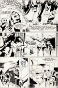 Original Comic Art:Panel Pages, Neal Adams and Dick Giordano Power Records Batman Page 6Original Art (undated)....