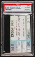 Baseball Collectibles:Tickets, 1994 Michael Jordan 1st Home Run Ticket Stub - PSA Authentic....