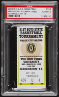 Basketball Collectibles:Others, 2003 LeBron James St. Vincent St. Mary's State Championship TicketStub - PSA Authentic 1/1....