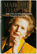 Books:Biography & Memoir, Margaret Thatcher. Robin Harris [editor]. SIGNED. The CollectedSpeeches. HarperCollins, 1998. First American editio...