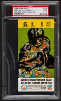 Football Collectibles:Tickets, 1968 Super Bowl II Packers vs. Raiders Ticket Stub, PSA Graded. ...