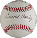Autographs:Baseballs, Carroll Hardy Single Signed Baseball With Roger Maris and TedWilliams Content....