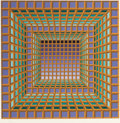 , VICTOR VASARELY (French, 1908-1997). Untitled. Silkscreen incolor. 26 x 26 inches (66.0 x 66.0 cm). Ed. 88/250. Signed ...