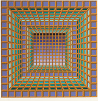 VICTOR VASARELY (French, 1908-1997) Untitled Silkscreen in color 26 x 26 inches (66.0 x 66.0 cm)<