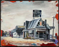 Baseball Collectibles:Others, Hack Wilson's Bar Original Oil Painting. ...