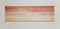 Prints, ED RUSCHA (American, b. 1937). Man Walking Away From It All, 1980. Etching in colors. 10-1/4 x 31-5/8 inches (26.0 x 80....