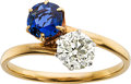 Estate Jewelry:Rings, Diamond, Sapphire, Gold Ring, Tiffany & Co., circa 1900. ...