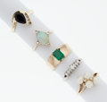 Estate Jewelry:Rings, Multi-Stone Gold Rings. ... (Total: 5 Items)