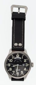 Timepieces:Wristwatch, Zeno Basel Steel Automatic Incabloc Wristwatch. ...